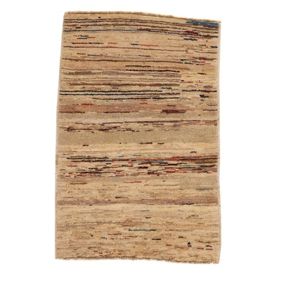 2'8 x 4'1 Hand-Knotted Afghan Gabbeh Rug