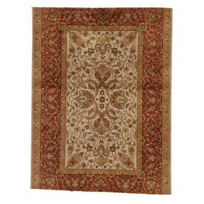 4'1 x 5'4 Hand-Knotted Pakistani Persian Tabriz Rug, 2000s
