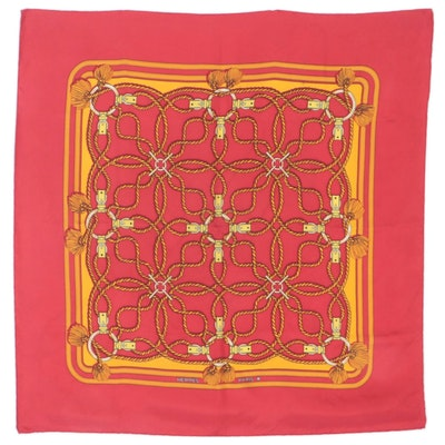 """Hermès Early Issue """"Cordelieres"""" Silk Twill Scarf"""