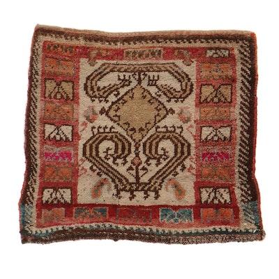 2' x 2'2 Hand-Knotted Persian Kurdish Rug, 1920s