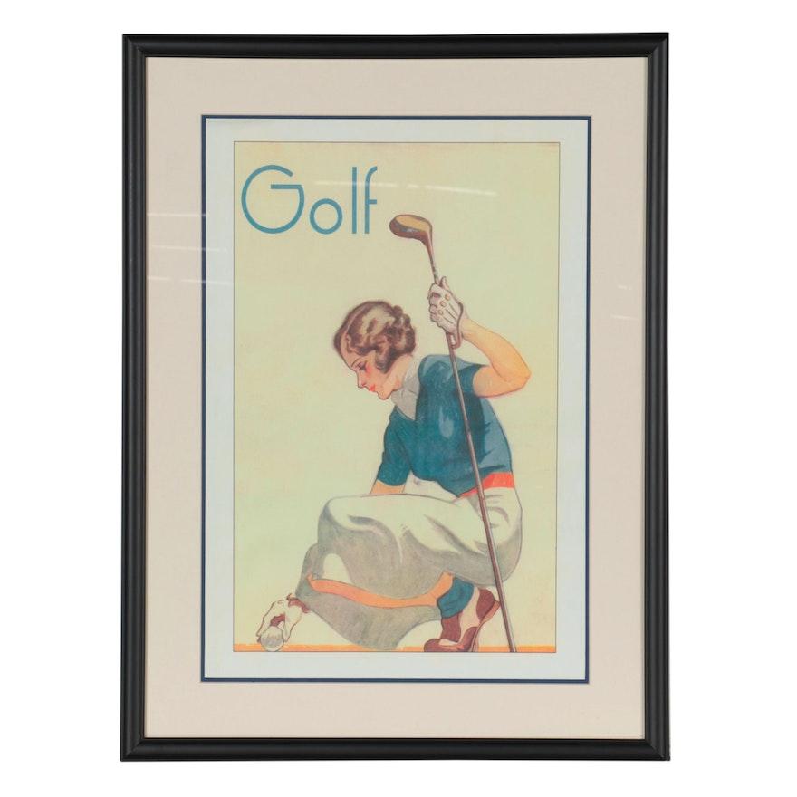 Giclée Poster of Golf Advertisement