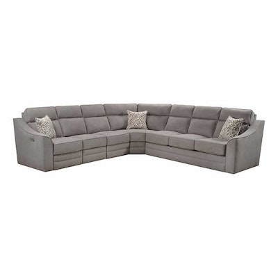 Lane Radford Gray Fabric Sectional Sofa with Queen Sleeper