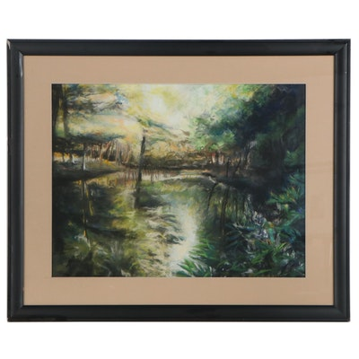 Leigh Rodenbough Landscape Pastel Drawing