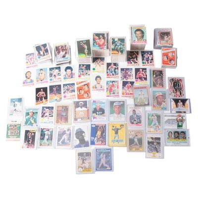 Baseball, Basketball, and Football Cards with Stars and Hall of Fame Players