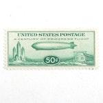"1933 Zeppelin ""Century of Progress"" Chicago Expo 50-Cent Stamp, Scott #C18"