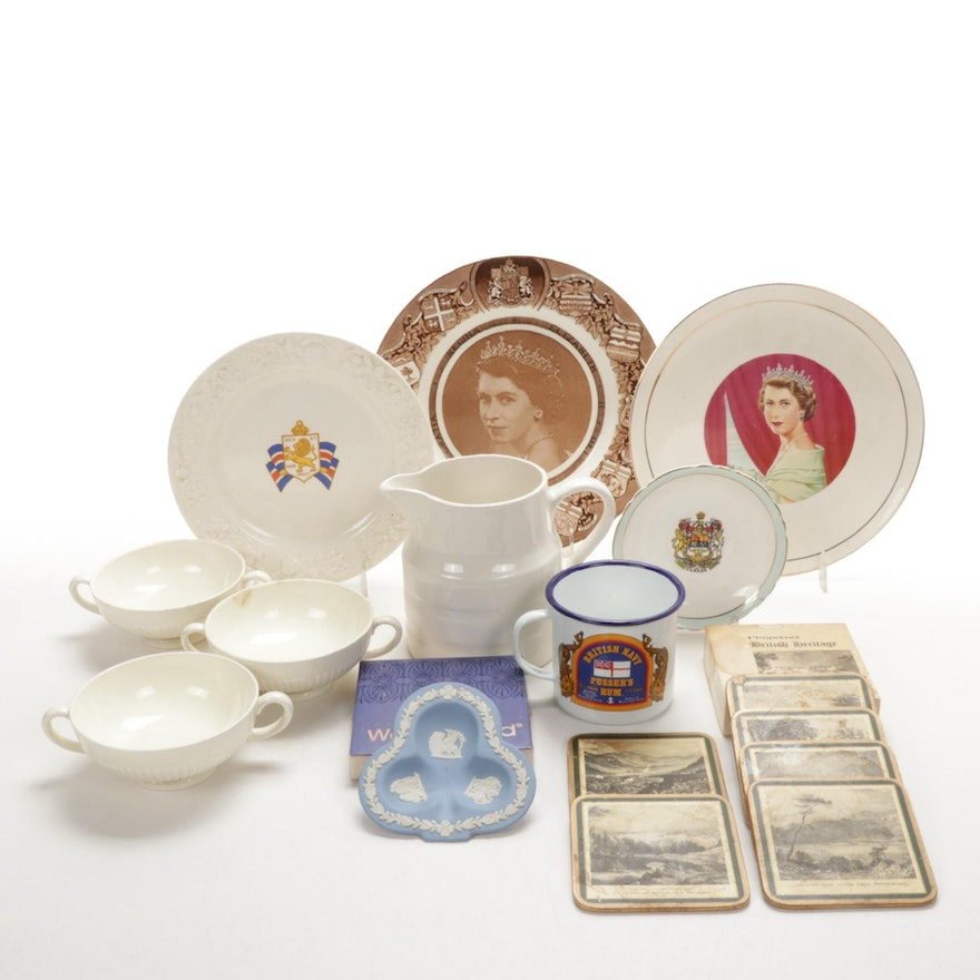 Wedgwood with Other Ceramic Tableware and Pimpernel Coasters