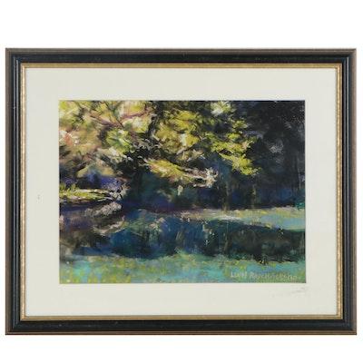 """Leigh Rodenbough Pastel Landscape """"Battleground Park"""""""