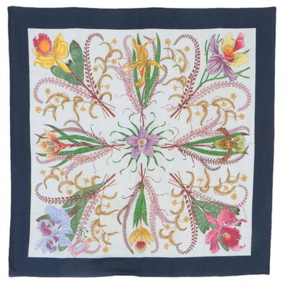 Gucci Silk Twill Scarf in Floral Print