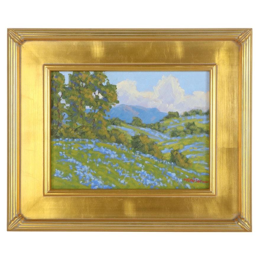 """Marc Graison Landscape Oil Painting """"Summer Blue,"""" 2021"""