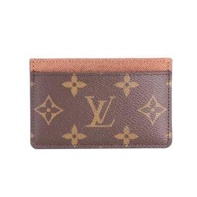 Louis Vuitton Porte-Cartes in Monogram Canvas and Taïga Leather with Box