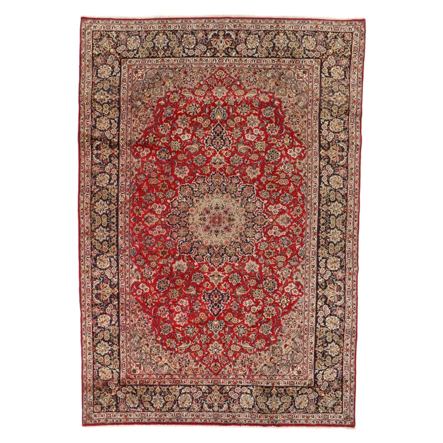 9'2 x 14' Hand-Knotted Persian Isfahan Room Sized Rug