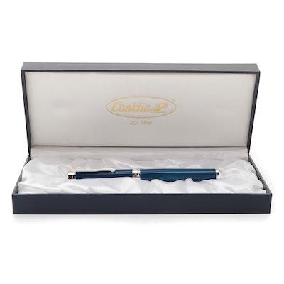 Conklin Deep Sea Blue Herringbone Ballpoint Pen
