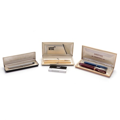 Parker, Sheaffer, Esterbrook and Montblanc Fountain Pens and Pencil