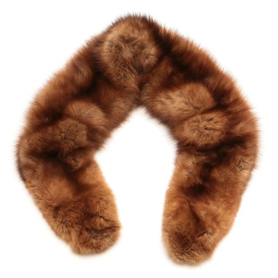 Revillon Sable Fur Stole with Clip Ends