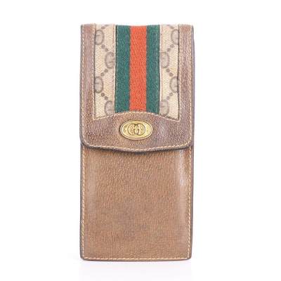 Gucci Accessory Collection Supreme Canvas, Web Stripe and Leather Eyeglass Case