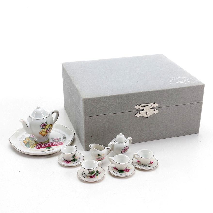 Mattel Barbie's 25th Anniversary Miniature Porcelain Tea Set, 1984