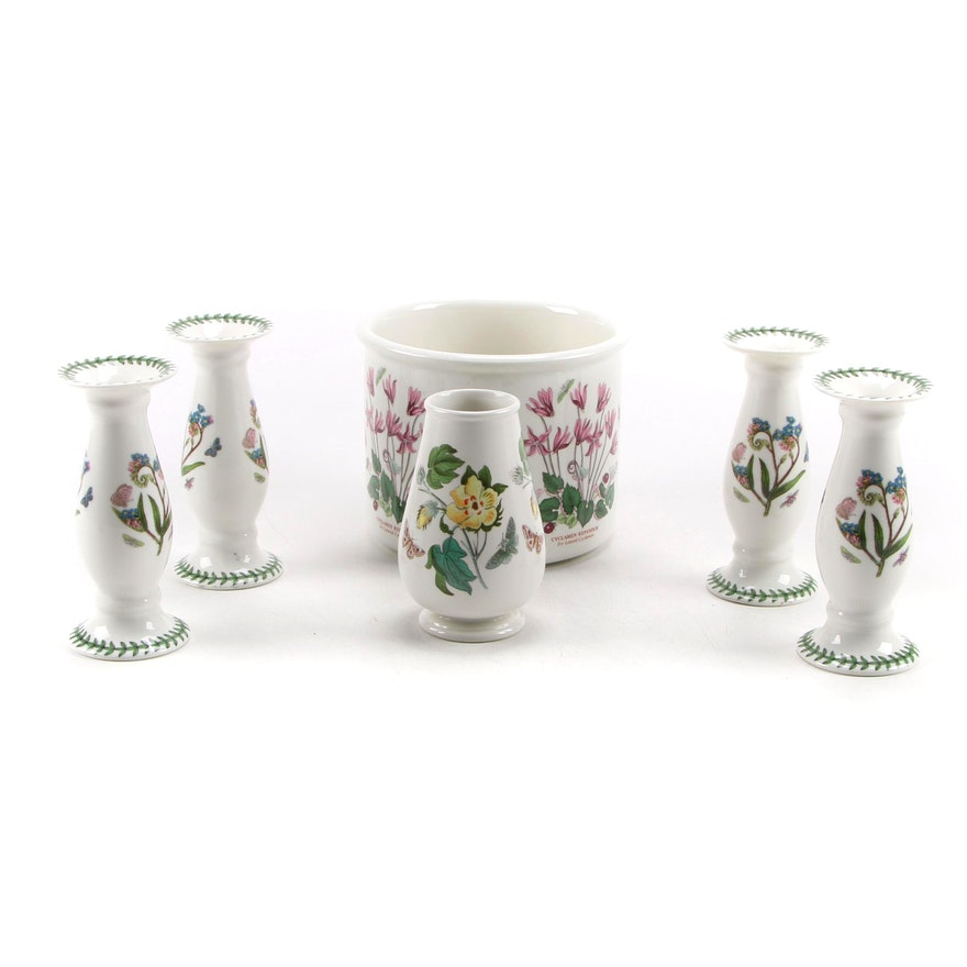 """Portmerion """"The Botanic Garden"""" Planters and Candle Holders"""