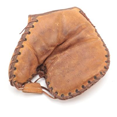 """Draper Maynard """"Lucky Dog"""" Leather First Baseman's Glove, circa 1930s"""