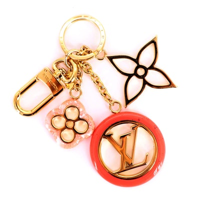 Louis Vuitton Colorline Bag Charm and Key Ring in Rose