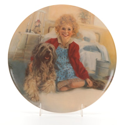 """Knowles for Columbia Pictures """"Annie and Sandy"""" Bone China Collector Plate"""