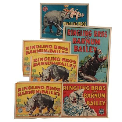 Ringling Bros. and Barnum & Bailey Circus Lithograph Posters, Mid-20th Century