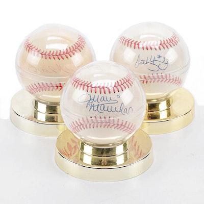 Juan Marichal, Phil Niekro, and Anthony Young Signed Rawlings MLB Baseballs