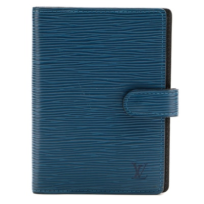Louis Vuitton Agenda Planner in Toledo Blue Epi Leather