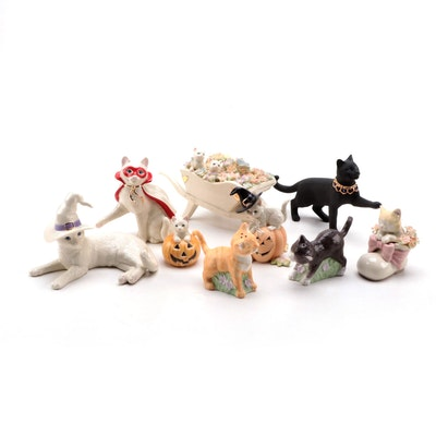 """Lenox """"Feline Family's First Halloween"""" and Other American By Design Figurines"""