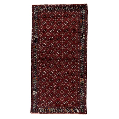 3'4 x 6'7 Hand-Knotted Persian Turkmen Rug, 1990s