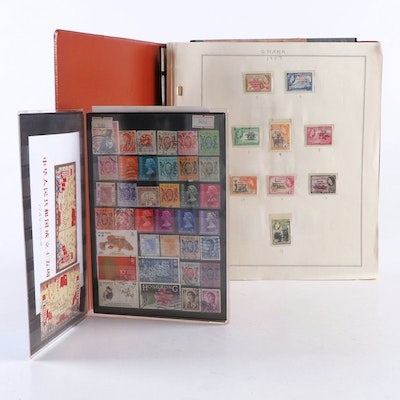 """British Commonwealth """"Gold Coast"""" of Africa Unused Stamp Collection"""
