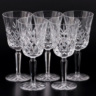 "Lenox ""Charleston"" Crystal Water Goblets, Late 20th Century"