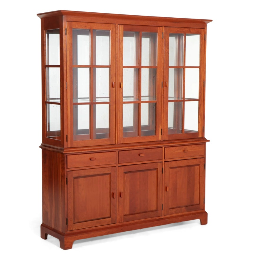 Pennsylvania House Arts & Crafts Style Cherry China Cabinet