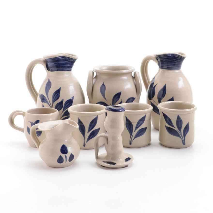 Williamsburg Pottery Salt Glazed Stoneware Pitchers and Other Table Accessories