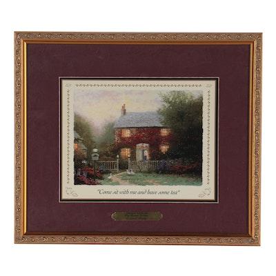 "Offset Lithograph after Thomas Kinkade ""Pye Corner Cottage,"" 1999"