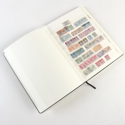 Dealer Stock Book of U.S. and International Stamps, Early to Mid 20th Century