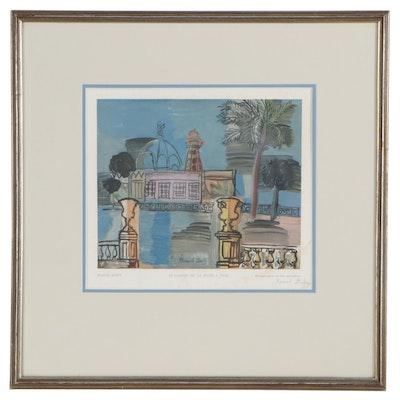 """Raoul Dufy Color Lithograph """"Le Casino de la Jetée a Nice"""""""