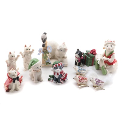 "Lenox ""Cozy Kitty"", ""Devilish Kitty"" and Other Seasonal Cat Figurines"