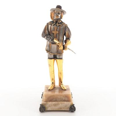Anna Dauesiu Gilt and Silvered Bronze Sculpture