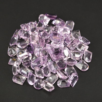 Loose 99.04 CTW Window Faceted Amethysts