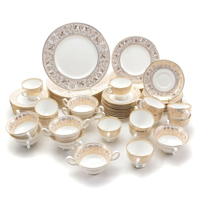 "Wedgwood ""Gold Florentine"" Bone China Dinnerware Pieces, 1961–1986"