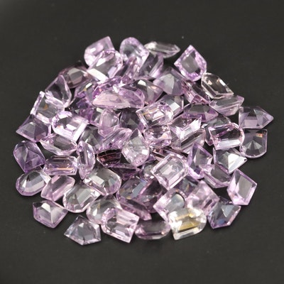 Loose 135.93 CTW Faceted Amethysts