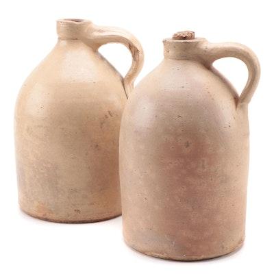 Salt Glazed Stoneware Jugs, Late 19th/Early 20th Century