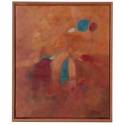 Eugene DeSmith Abstract Expressionist Acrylic Painting, 2020
