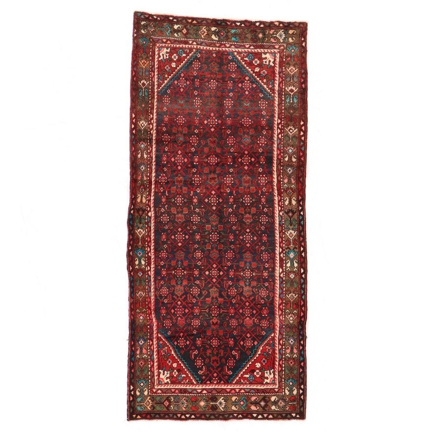 3'4 x 7'8 Hand-Knotted Persian Kolyai Herati Area Rug