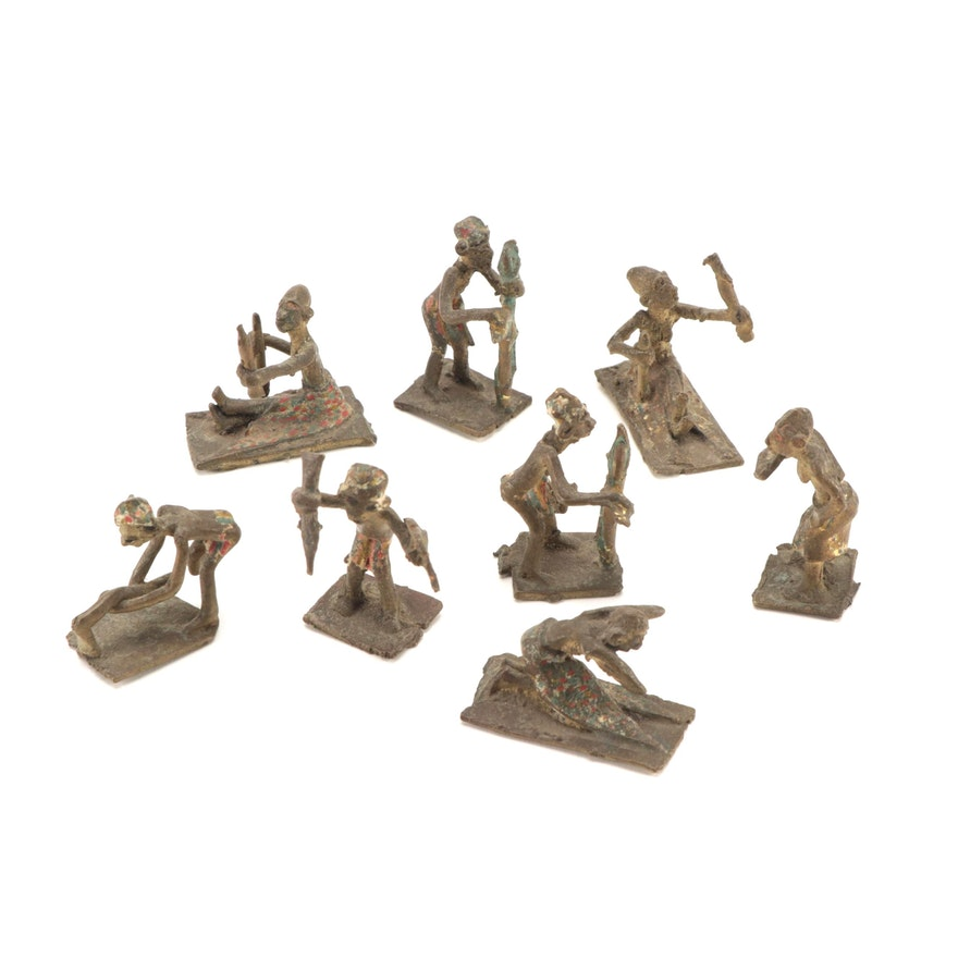 Akan Style Cast Brass Gold Weight Figurines, West Africa