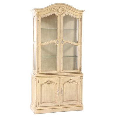 Kindel Furniture Co. French Provincial Style Painted China Cabinet