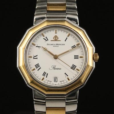 Baume & Mercier Riviera 18K and Stainless Steel Wristwatch