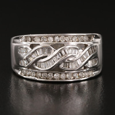 10K Diamond Ring with 14K Shank