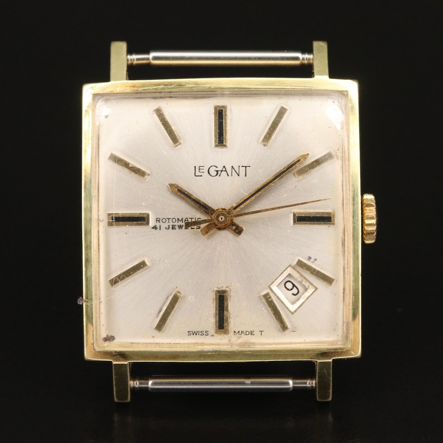 Vintage LeGant Rotomatic Gold Plated Automatic Wristwatch