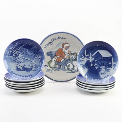 Louisville Stoneware and Bing & Grøndahl Ceramic Christmas Plates
